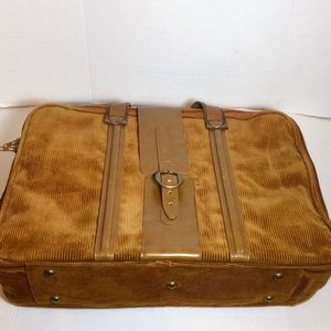 unbranded Bags - Corduroy & soft leather vintage suitcases